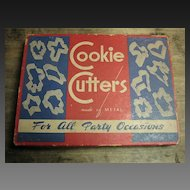 Grandma's Old Vintage Cookie Cutter Set with Original Box
