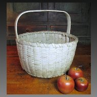 Granny's Favorite Old Super Primitive Farmhouse Gathering Basket – Old White Paint