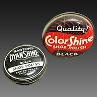Two Old Shoe Polish Advertising Tins