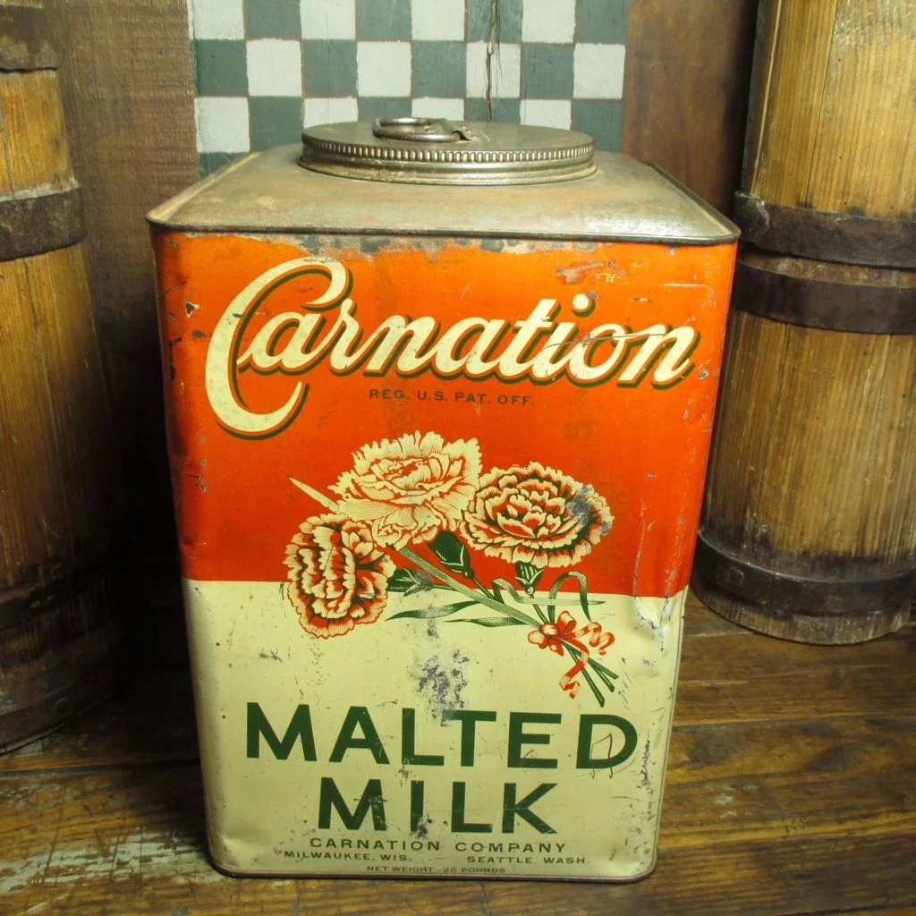 Early Old Large Carnation Malted Milk General Store