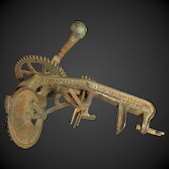 Awesome Early Old Antique Mechanical Iron Apple Peeler - Mfg. Goodell Co., Antrim, N.H. 1898 - Steampunk
