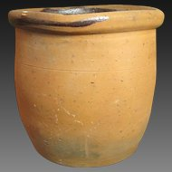 Gorgeous Early Old Farmhouse Redware Crock