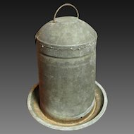 Great Granny's Early Old Farmhouse Small Metal Chicken Waterer