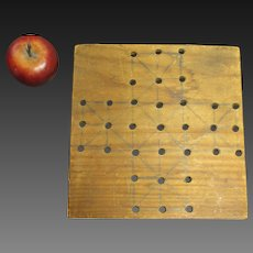 Sweet and Simple Small Hand Made Primitive Wooden Game Board