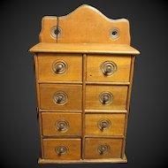Wonderful Old Farmhouse Kitchen 8 Drawer Spice Cabinet
