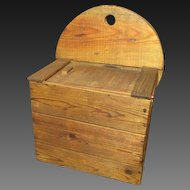 Grandpa's Old One-of-a-Kind Hand Made Primitive Sliding Lid Wooden Wall Box