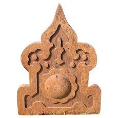 """Wonderful Old Oak Ornately Carved Gothic Architectural Piece - 17.50"""" Tall"""