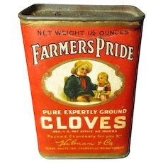 Awesome Old FARMER'S PRIDE Spice Tin - Cloves - Vivd Graphics
