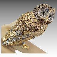 Vintage Nolan Miller Owl Brooch