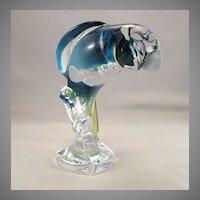 Vintage Bayel Royales de Champagne Crystal Parrot France