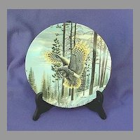 Vintage Evening Glimmer Owl China Plate