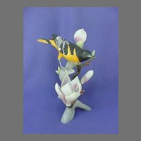 Vintage Northern Oriole Magnolia China Figurine