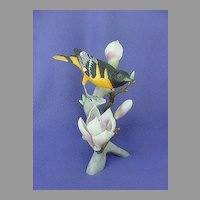 Vintage Northern Oriole Magnolia China Figurine