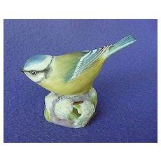 Vintage Royal Worcester Blue Tit Figurine