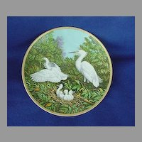 Vintage W.S. George Snowy Egret Chicks Plate