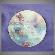 Vintage Lena Liu Wings of Snow Egrets Plate