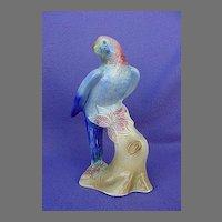 Vintage Royal Copley Blue Parrot Figurine