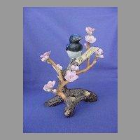 Vintage Audubon Japanese Blue Flycatcher Figurine