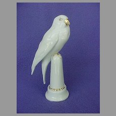 Antique Hutschenreuther White Parrot Parakeet Figurine