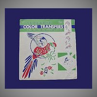 Vintage Color Parrot Transfers