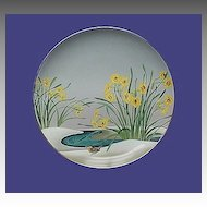 Vintage Birds Flowers Orient Wren Narcissus Plate