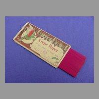Vintage Parrot Brand Rose Pink Crepe Paper