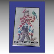 Vintage Poll Parrot Boy Parrot Poster