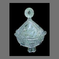 Hofbauer Byrdes Bird Crystal Covered Candy Dish