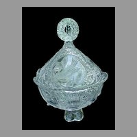 Hofbauer Byrdes Bird Crystal Covered Candy Dish