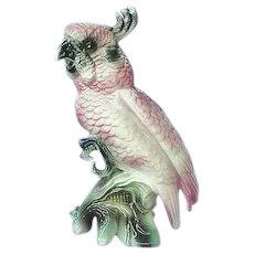 Vintage Ball Brothers Pink Cockatoo Figurine