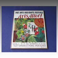 Vintage Framed Arts Alive Poster Tillett Gardens St. Thomas