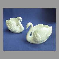 White Swan Candle Holders by Goebel of Germany