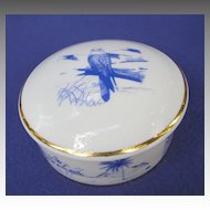 Vintage Artoria Limoges Falconry Themed Trinket Box
