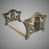 Brass Antique Owl Book Rack