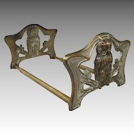 Brass Antique Owl Book Rack