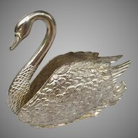 Silverplate Swan Figural Napkin Holder