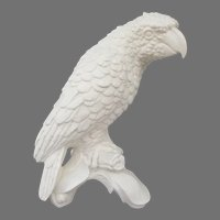 Goebel Bisque Parrot Figurine