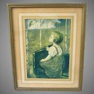 Framed Vintage Spring Song Print