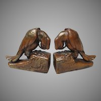 Art Deco Parrot Bookends