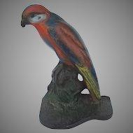Cast Iron Parrot Door Stop