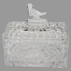Hofbauer German Crystal Bird Jewelry Box Casket