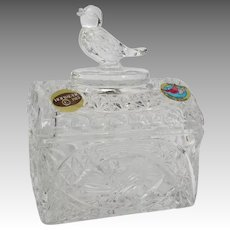 Hofbauer Bird Crystal Jewelry Chest