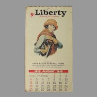 Vintage Liberty Advertising Calendar