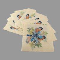 Vintage Bullfinch Bird Paper Napkins
