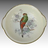 Vintage Bavaria Germany Vegetable Bowl with Parrot