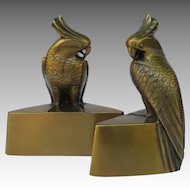 Vintage Cockatoo Bookends