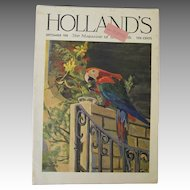 Vintage Holland's 1938 Magazine Macaw Cover