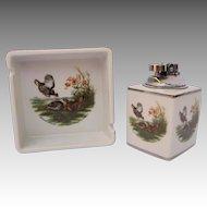 Vintage Colibri Smoking Set with Prairie Chickens Game Birds