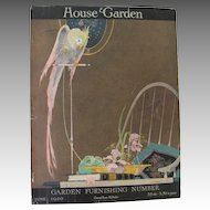 Art Deco House and Garden Cockatoo Parrot Magazine Cover