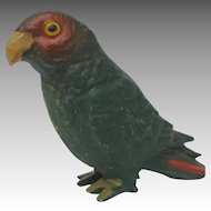 Vintage Pot Metal Parrot from Europe